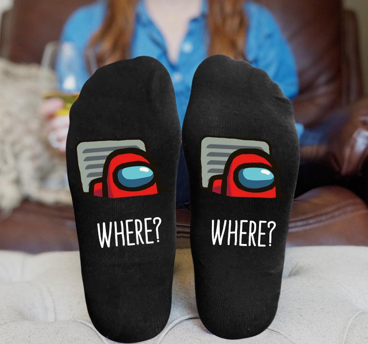 Black Socks Breathable Sweat Samposity Odor Ankle Casual Socks - Among US-3 One Size